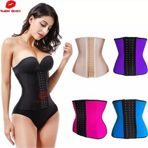 9 steel boning latex waist trainer